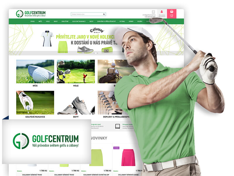 Kicero reference eshop Golf centrum
